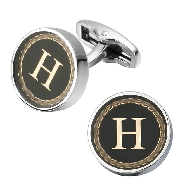 Stylish Litera Printed Men's Cufflinks